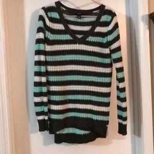 XL Rue 21 knitted mint green/black sweater
